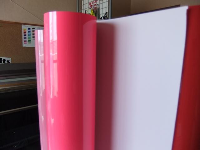 アイロンラバー蛍光ピンク