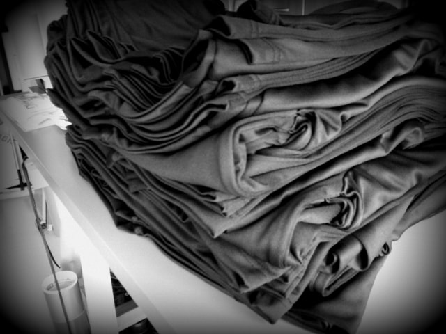 ドライTシャツにアイロンラバー